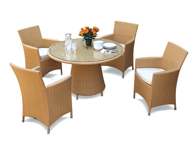 Wicker Dining Table Sets ~ Eclipse rattan glass top dining table and chairs set