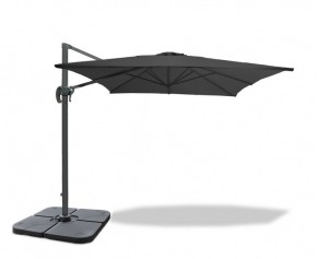 Square 3 x 3m Slate Grey Cantilever Parasol with cover - New: Repackaged