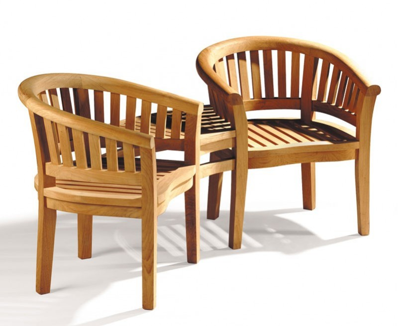 Garden Teak Companion Seat