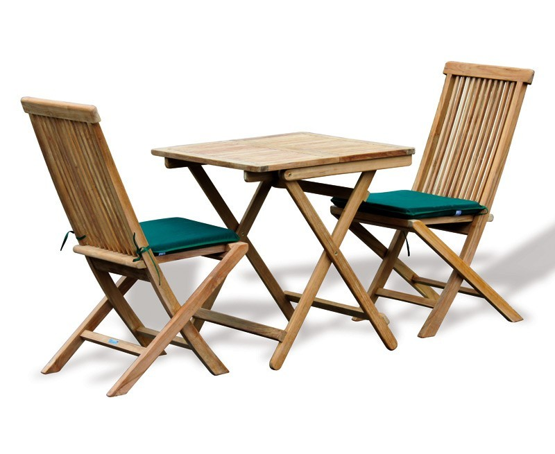 Rimini teak outdoor garden table and 2 chairs patio for Outdoor teak dining table