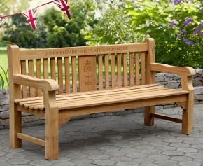 Balmoral 6ft Queen's Platinum Jubilee Commemorative Bench