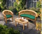 Teak Banana Bench and Coffee Table Set