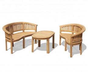 Deluxe Teak Coffee Table Set - Coffee Table