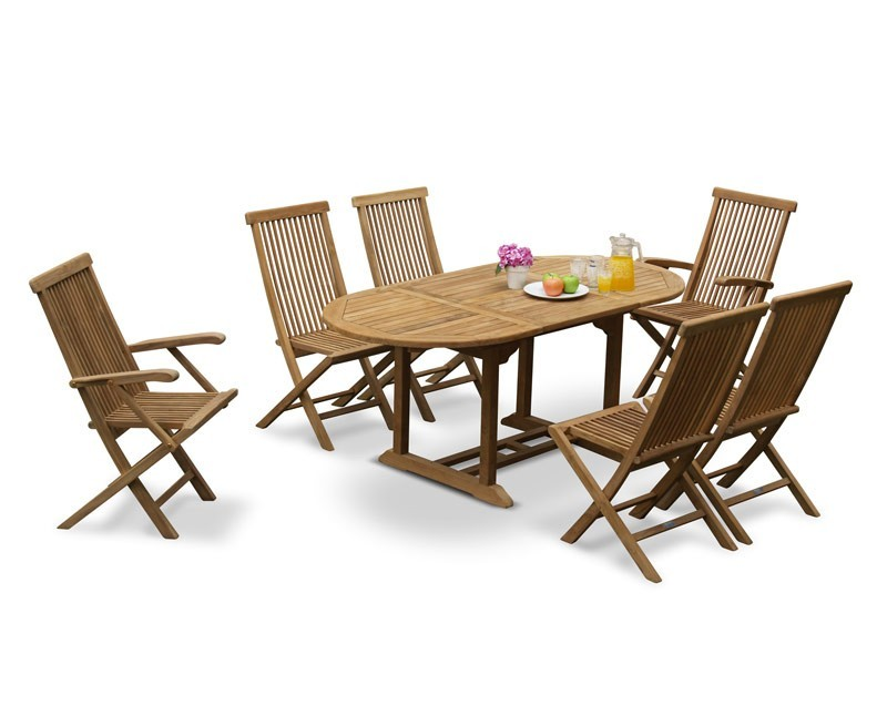 Brompton Outdoor Extending Garden Table and 6 Chairs : outdoor extending garden table and 6 chairs patio extendable dining set from corido.co.uk size 800 x 655 jpeg 63kB