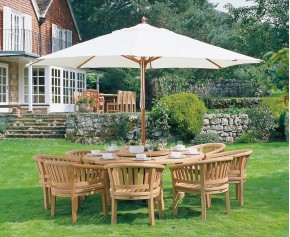 Titan Garden 8 Seater Teak Wooden Patio Dining Set - Titan Dining Set