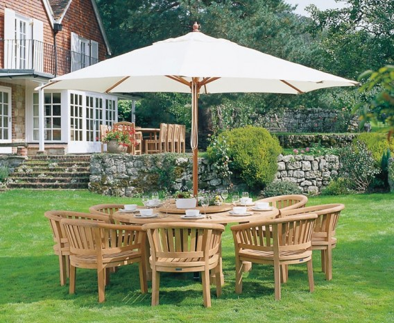 Titan Garden 8 Seater Teak Wooden Patio Dining Set