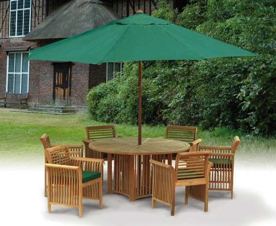 Aero Round Garden Table and 6 Chairs Set