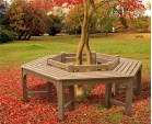 Hexagonal Teak Tree Seat- Low Back