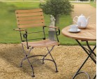 Folding Bistro Chair | Teak Bistro Arm Chair