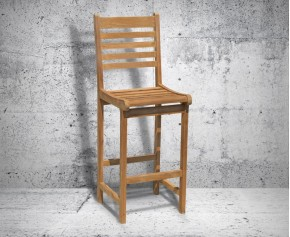 Yale Teak Garden Bar Stool - Patio Chairs