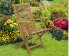 Ashdown Teak Folding Garden Armchair