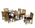 Hilgrove Teak 5ft Garden Dining Table and 6 Clivedon Chairs