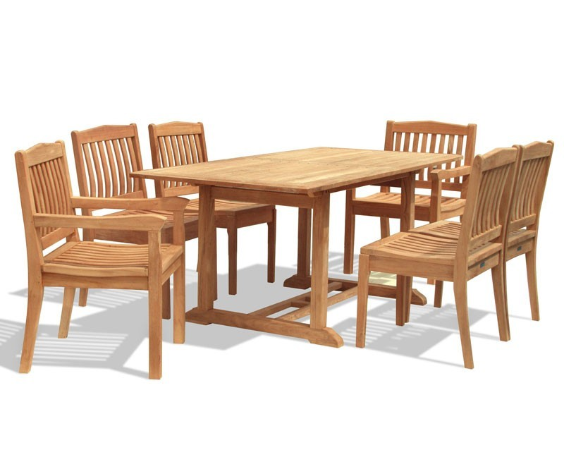 Hilgrove 6 Seater Garden Rectangular Dining Table And