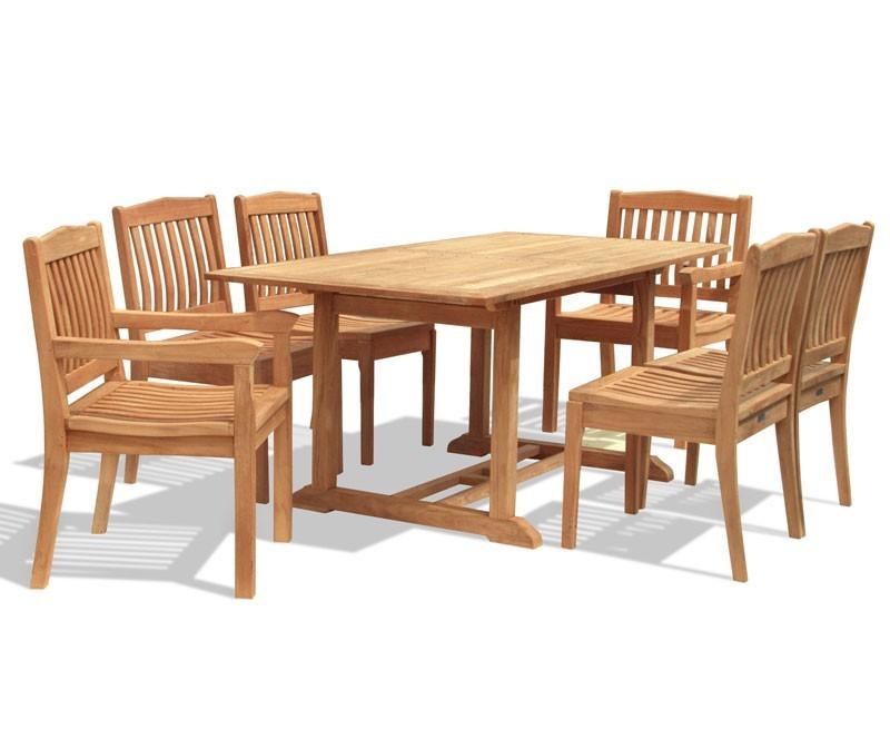 Hilgrove 6 Seater Garden Rectangular Dining Table and  : rectangular dining table and chairs from www.corido.co.uk size 800 x 655 jpeg 63kB