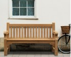 Balmoral 5ft Teak Park Bench - Street Bench