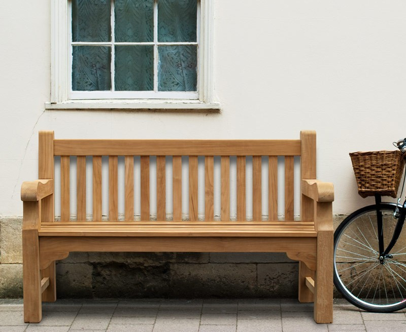 Balmoral 5ft Teak Park - Street Bench | Heavy Duty Garden ...