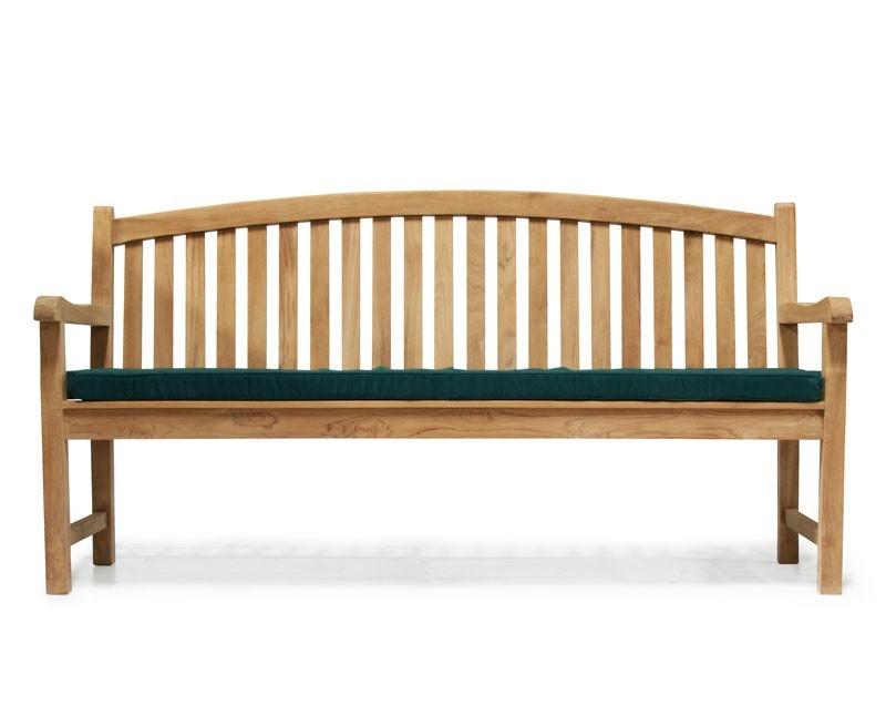 home all garden benches clivedon teak 4 seater garden bench