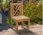 Princeton Teak Garden Lattice Back Chair