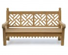 Chiswick Teak 6ft Chippendale Garden Bench