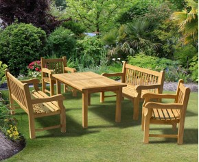 Balmoral 5ft Dining Table and Benches Set - Bench and Table Sets