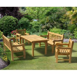 Balmoral 5ft Dining Table and Benches Set