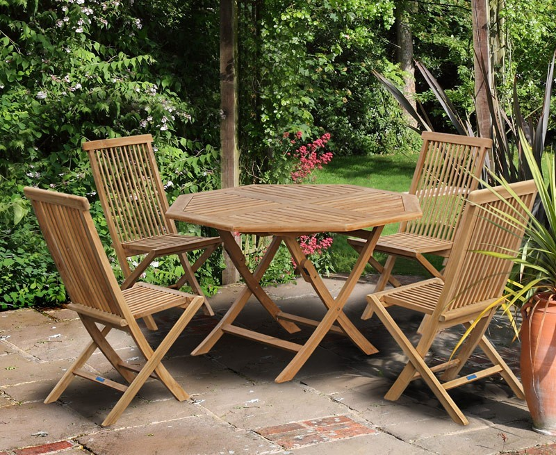 Suffolk Octagonal Folding Garden Table Amp Chair Set