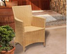 Riviera All Weather Wicker Rattan Armchair - Flat Weave