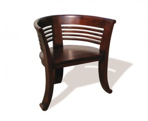 Kensington Tub-Chair, Teak Deco Style - Teak Wood
