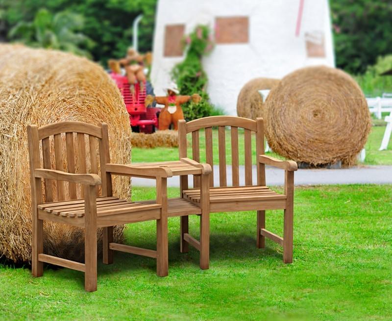 clivedon teak garden companion seat wooden garden love seat