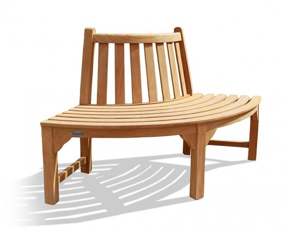 Teak Quarter Tree Seat Bench