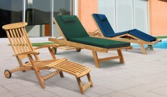 Garden Sun Loungers | Wooden Sun Loungers | Wooden Deck Chairs