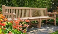 10 ft Garden Benches | Hardwood Garden Benches | Chunky Garden Benches