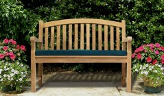 Curved Garden Benches | Teak Banana Benches | Outside Peanut Benches