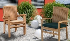 Garden Stacking Chairs | Garden Dining Stackable Chairs | Outdoor Rattan Stacking Chairs