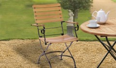Teak and Metal Garden Chairs