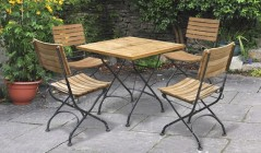 Square Dining Table and Chairs | Teak Square Dining Sets