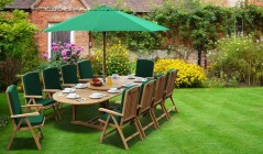10 Seater Table and Chairs | Garden Dining Table & 10 Chairs