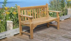 Teak Patio Benches | Public Seating Benches