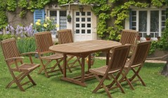 Teak Extending Garden Tables | Outdoor Extendable Tables | Square to Rectangle Dining Tables