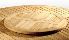 Wooden Lazy Susan | Teak Turntable Tray | Rotating Serving Tray