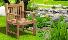 Teak Garden Armchairs | Chairs With Arms | Wooden Arm Chairs