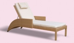 Indoor Loungers | Teak and Rattan Sun Loungers