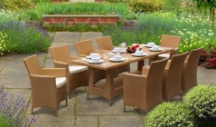Rattan Dining Table & Chairs | Poly Rattan Dining Sets