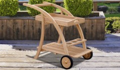 Teak Serving Trolleys | Wooden Drinks Trolleys