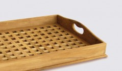 Wooden Serving Trays With Handles | Teak Dining Trays