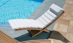 Padded Sun Lounger | Sun Lounger with Cushion