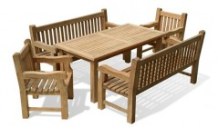 Dining Table and Benches | Outdoor Table and Benches | Dining Sets with Benches