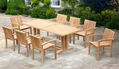 Cadogan Outdoor Dining Sets | Pedestal Dining Table with Chairs
