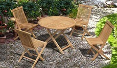 Chester Folding Dining Sets | Low Back Garden Chairs