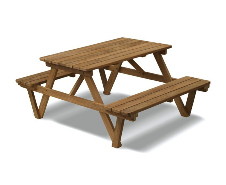 Teak picnic bench table